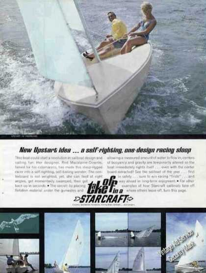 Starcraft Upstart 16' Fiberglass Sailboat Photos A (1967)