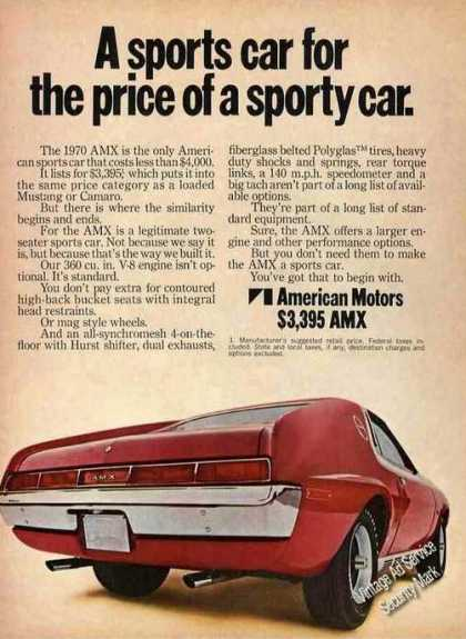 "Amc Amx ""Sports Car for Price of a Sporty Car"" (1970)"