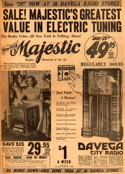 Majestic's Various – Sale! Majestic's Greatest Value in Electric Tuning (1938)