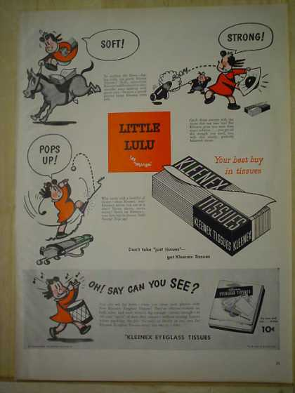 Kleenex Tissues Little Lu Lu Oh say can you see (1950)