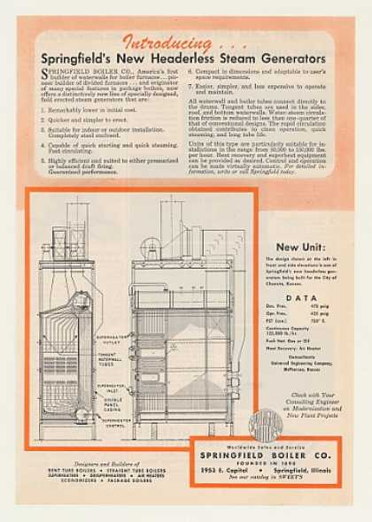 Springfield Boiler Headerless Steam Generator (1956)