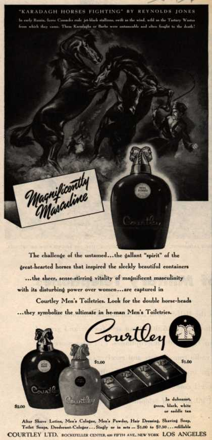 Courtley, Limited's Courtley Men's Toiletries – Magnificently Masculine (1945)