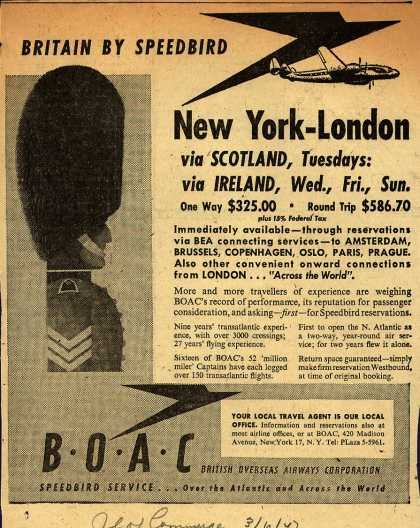 British Overseas Airways Corporation's Britain – Britain by Speedbird (1947)