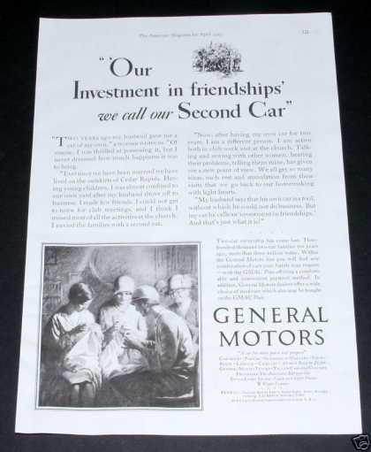 General Motors, Second Car Need (1929)