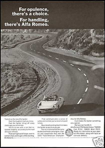 Alfa Romeo Spider Veloce Print Vintage Photo (1971)