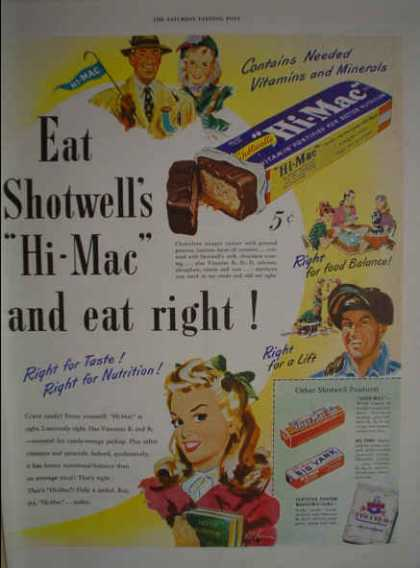 Shotwell's Hi Mac Candy Bar Big Yank Shur Mac (1947)