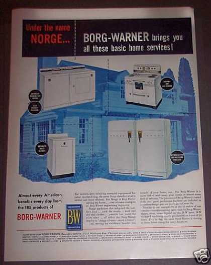 Borg-warner Washer Stove Freezer Heater (1953)