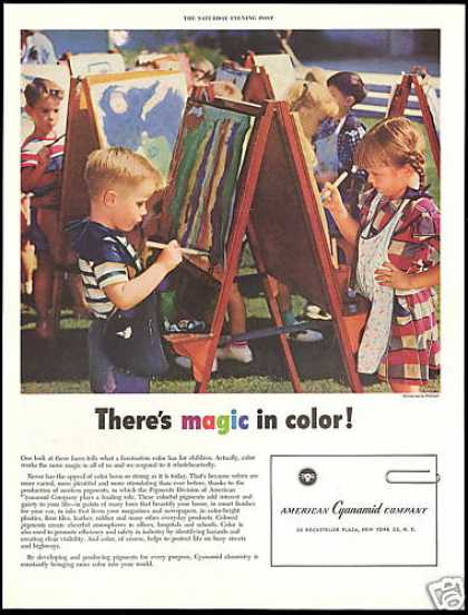 American Cyanamid Co Children Paint Pigments (1954)
