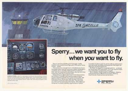 Vought IFR Gazelle Helicopter Sperry HelCIS (1975)