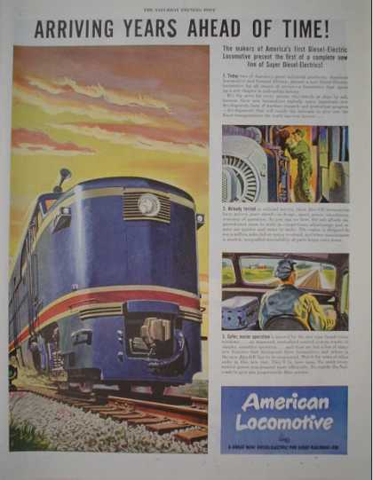 American Locomotive Train AND Perfect Circle Piston rings (1946)