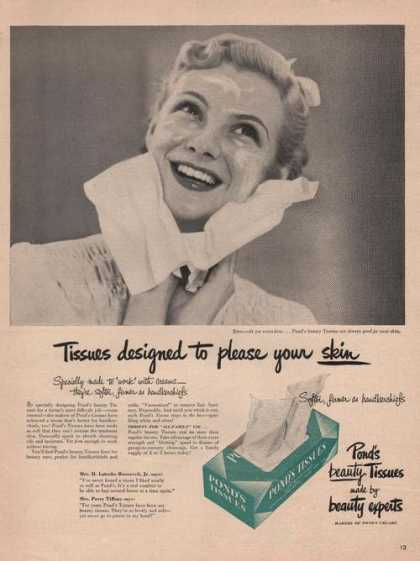 Ponds Beauty Tissues (1949)