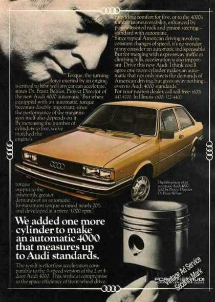 "Audi 4000 ""We Added One More Cylinder"" (1980)"