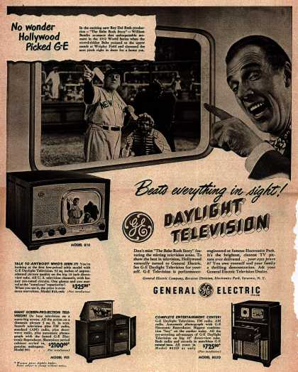 General Electric Company's Television – Beats everything in sight! GE Daylight Television (1948)