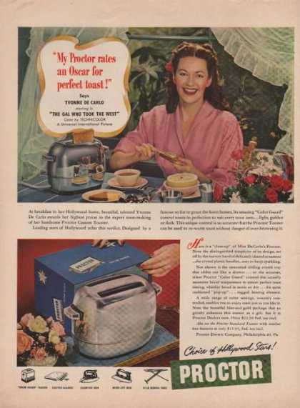 Proctor Toaster Hollywood Stars (1949)
