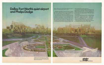 Dallas Fort Worth Airport Phelps Dodge 2-Page (1973)