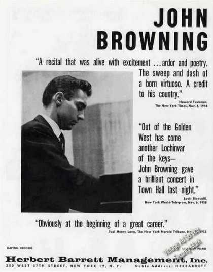 John Browning Photo Pianist Booking (1959)