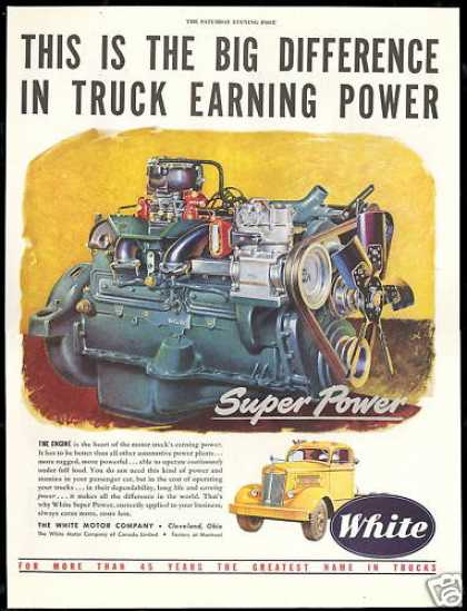 Vintage transportation ads of the 1940s page 217 for White motor company trucks