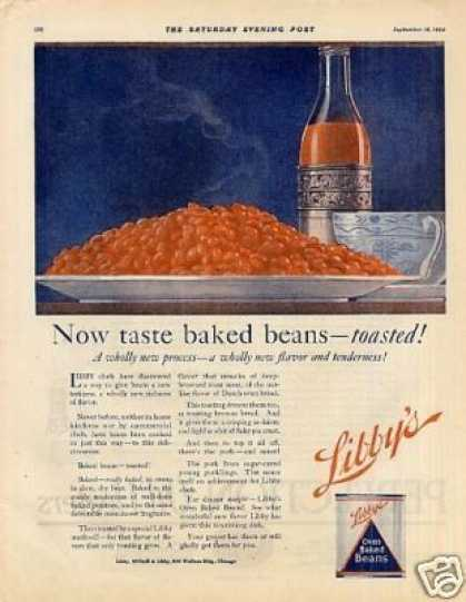 Libby&#8217;s Oven Baked Beans (1920)