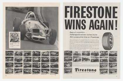 AJ Foyt Photo Firestone Tire Indy Winners (1964)