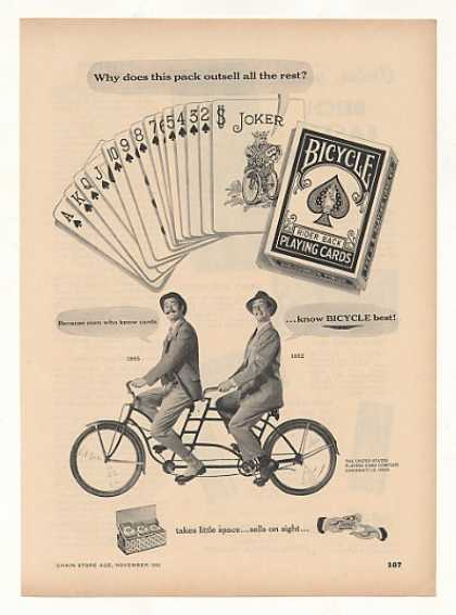 Bicycle Playing Cards Men Tandem Bike Trade (1952)