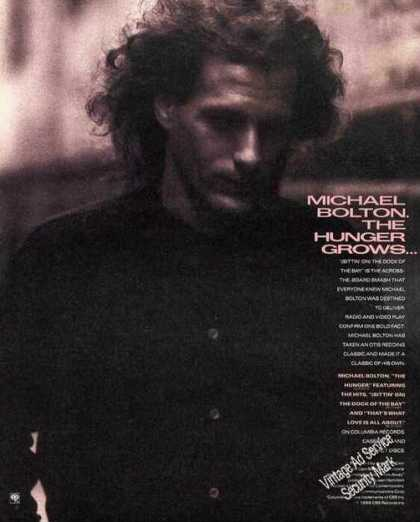 "Michael Bolton Photo ""The Hunger"" Album (1988)"