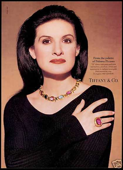 Paloma Picasso Photo Jewelry Tiffany & Co (1993)