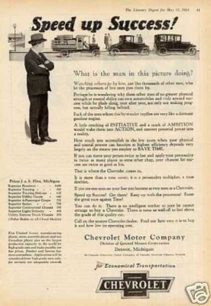 "Chevrolet Ad ""Speed Up Success... (1924)"