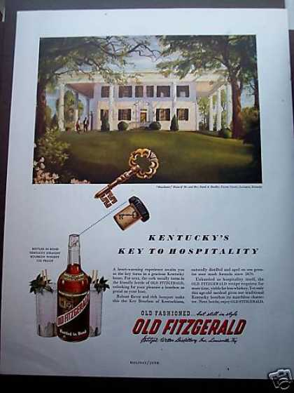 Kentucky Home Art Old Fitzgerald Whiskey (1949)