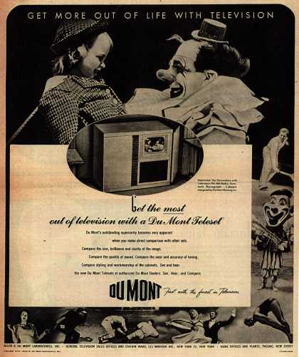 Allen B. DuMont Laboratorie's Television – Get More Out Of Life With Television (1947)