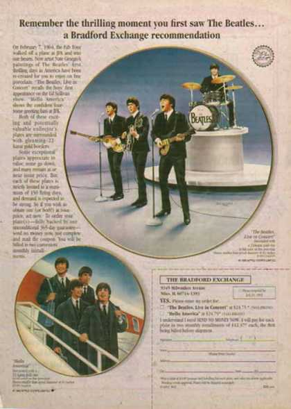Beatles Plate for The Bradford Exchange (1993)