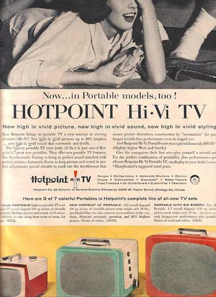 Hotpoint's Portable Hi-Vi TV's (1956)