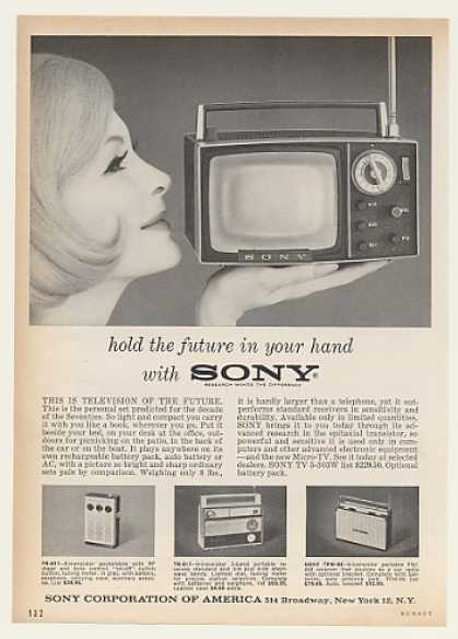 Sony TV 5-303W Micro-TV Television (1962)