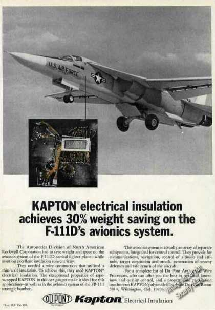 F-111d In Flight Closeup Photo Kapton (1968)