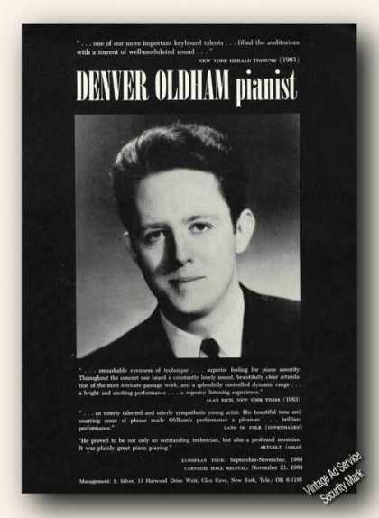 Denver Oldham Photo Piano Ad Music (1964)