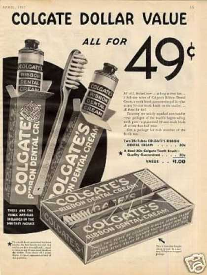 Colgate Dental Cream (1933)