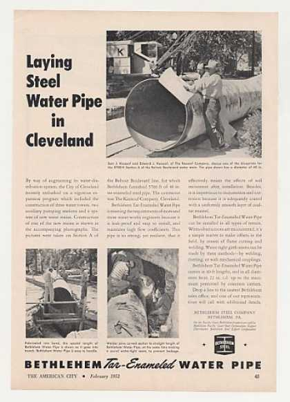 Bethlehem Steel Water Pipe Cleveland Photo (1952)