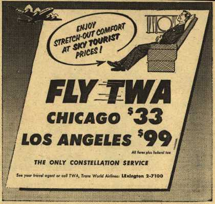 Trans World Airline's Chicago, Los Angeles – Fly TWA (1953)