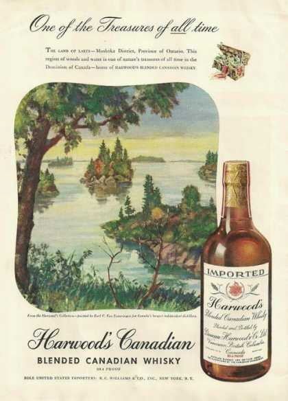 Harwoods Canadian Blended Whisky (1947)