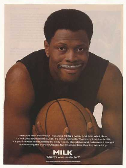 Patrick Ewing Milk Mustache Photo (1997)