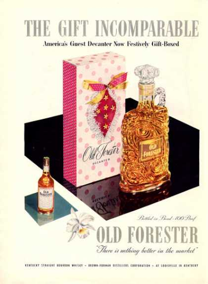 Old Forester Whisky Decanter Bottle (1953)
