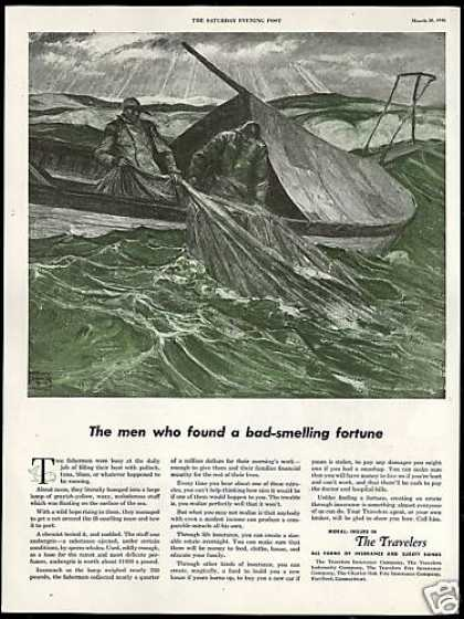 Fishermen Sperm Whale Ambergris Travelers Ins (1946)