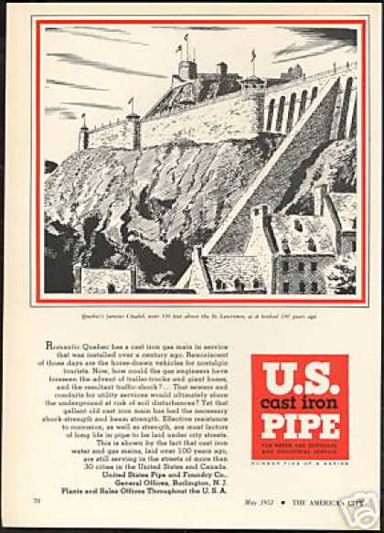 Quebec Canada Citadel 1851 Art US Pipe (1951)