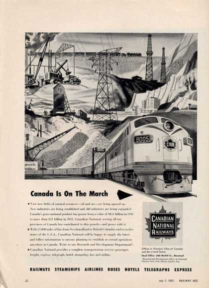 Canadian National Railways Train Railroad (1952)
