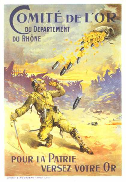 Committee for Gold, French war poster