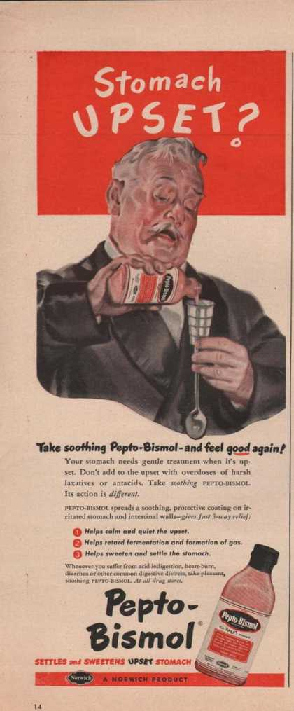 Stomach Upset? Pepto Bismol (1949)