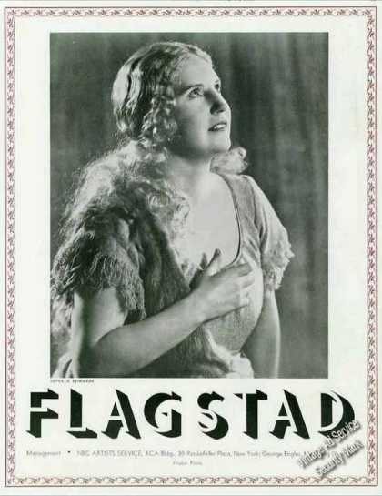 Kirsten Flagstad Impressive Photo Opera Trade (1936)