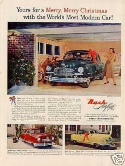 "Nash Cars Ad ""Yours for a Merry Christmas... (1952)"