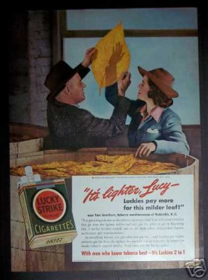Lucky Strike Tobacco Warehouse Nc Cigarette (1941)