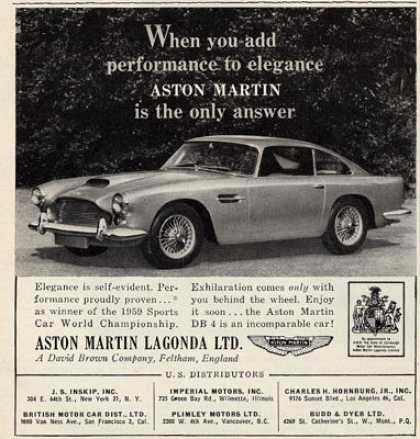 Aston Martin Lagonda Sports Car (1960)