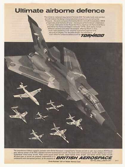 British Aerospace Tornado Combat Aircraft Photo (1977)